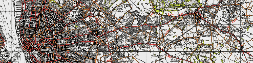 Old map of Swanside in 1947