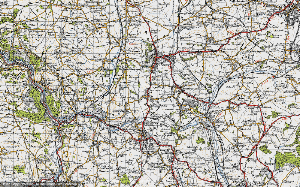 Old Map of Swanwick, 1946 in 1946