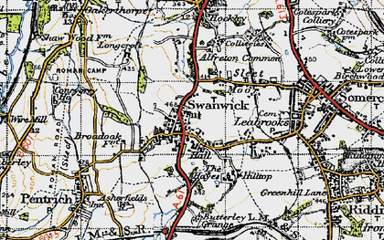 Old map of Swanwick in 1946