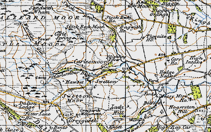 Old map of Wreaks Beck in 1947