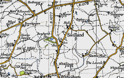 Old map of Agricultural Coll in 1946