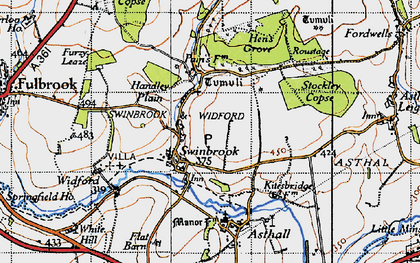 Old map of Widford Village in 1946