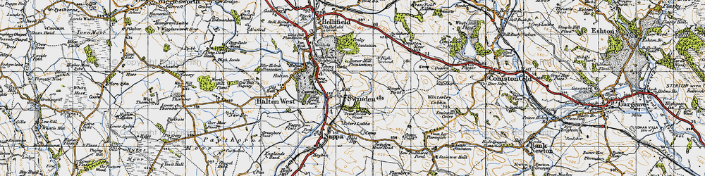 Old map of Winterley Cobba in 1947