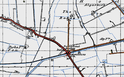 Old map of Algarkirk Fen in 1946