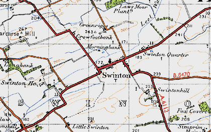 Old map of Laws Moor Plantn in 1947