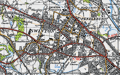 Old map of Swinton in 1947