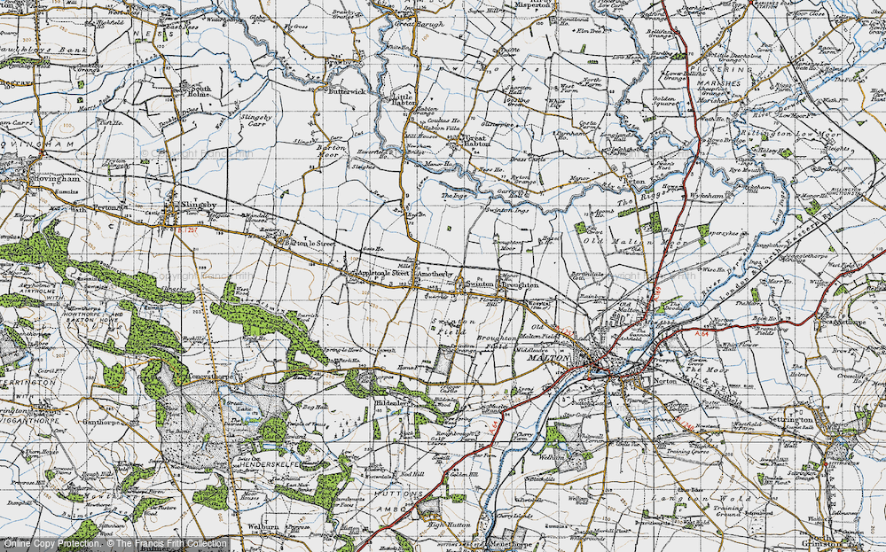 Old Map of Swinton, 1947 in 1947