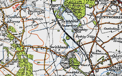 Old map of Swithland in 1946