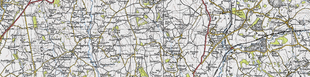 Old map of Whitehouse in 1945