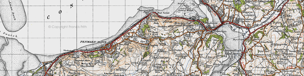 Old map of Alltwen in 1947