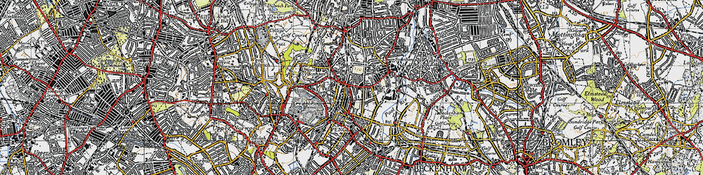 Old map of Sydenham in 1946