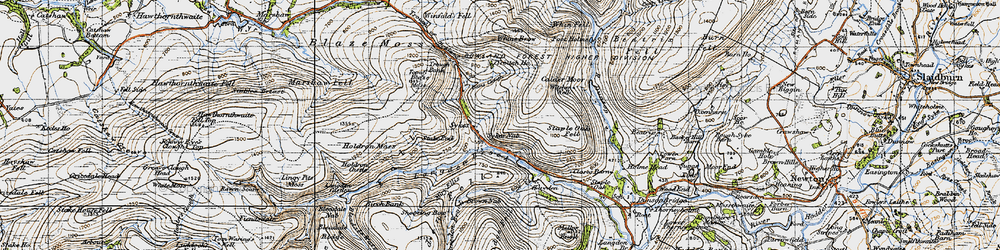 Old map of Winfold Fell in 1947