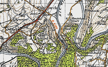 Old map of Symonds Yat in 1947
