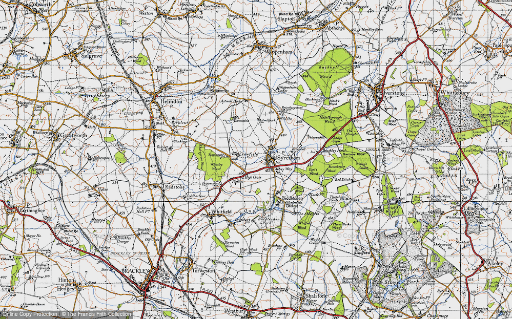 Old Map of Historic Map covering Abbey Way Ho in 1946