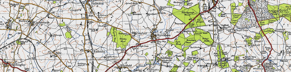 Old map of Abbey Way Ho in 1946