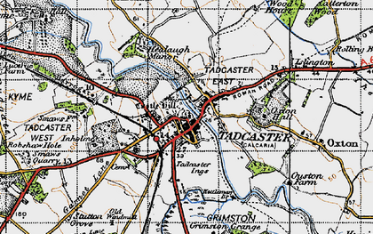 Old map of Tadcaster in 1947
