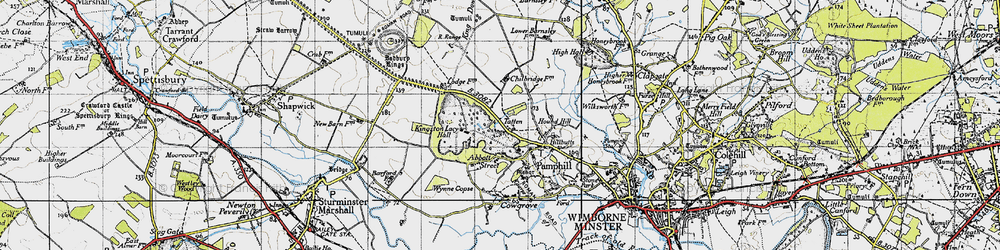 Old map of Wynne Copse in 1940