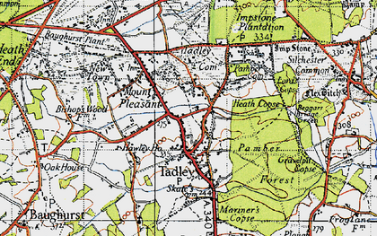 Old map of Tadley in 1945