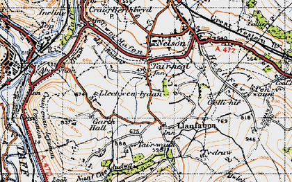 Old map of Whitehall in 1947