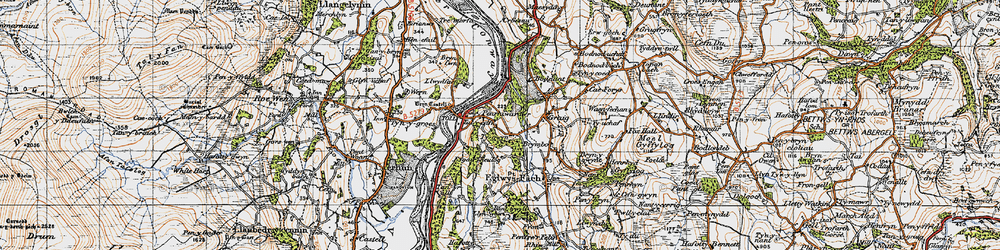 Old map of Tal-y-cafn in 1947