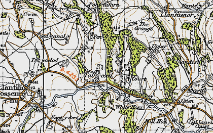 Old map of Ash Grove in 1947