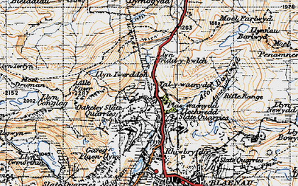 Old map of Allt y Ceffylau in 1947