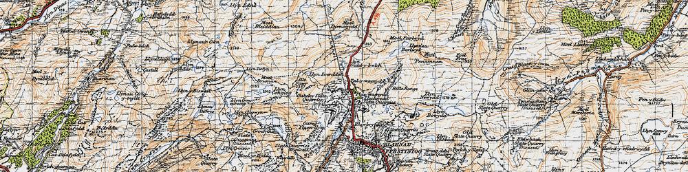 Old map of Afon Barlwyd in 1947