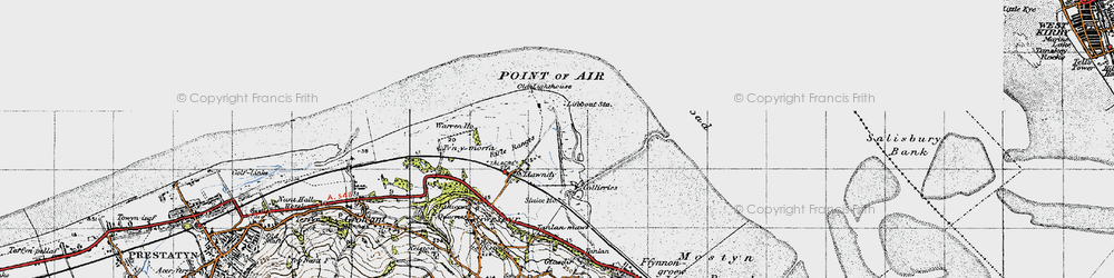 Old map of Talacre in 1947