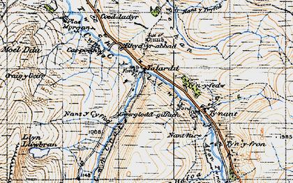 Old map of Afon Fechan in 1947