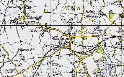 Old map of Talaton in 1946