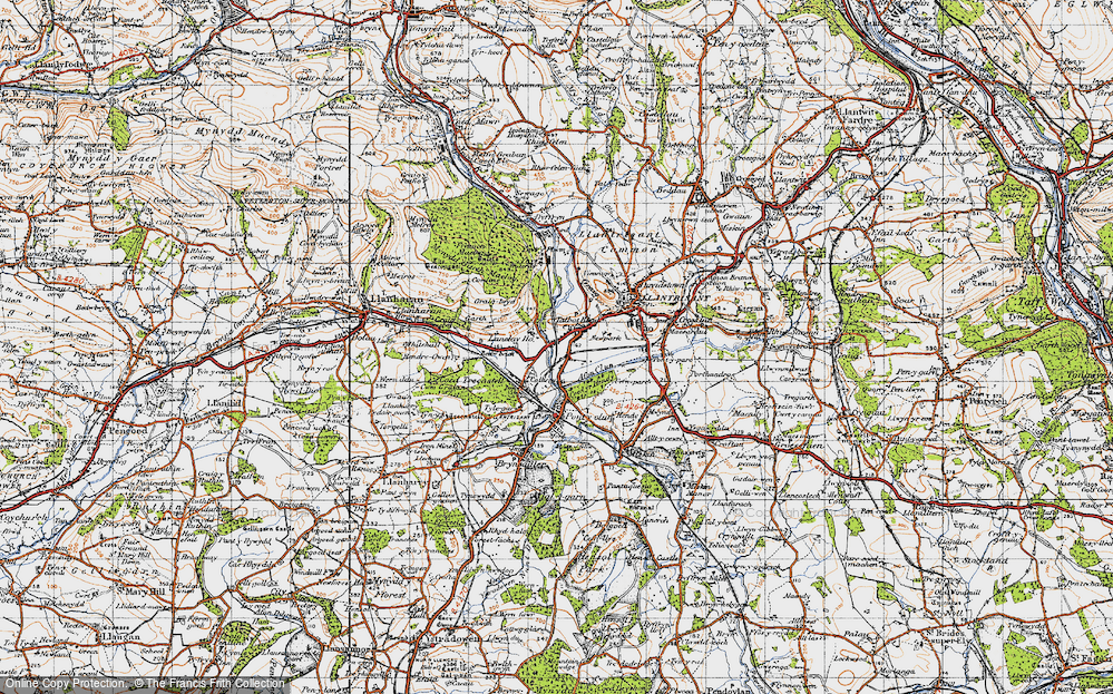 Old Map of Talbot Green, 1947 in 1947