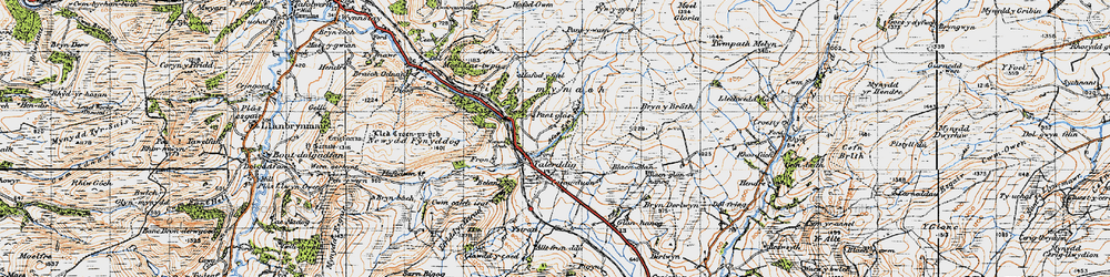 Old map of Tirymynach in 1947