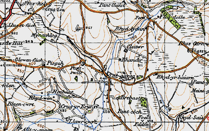 Old map of Whilgarn in 1947