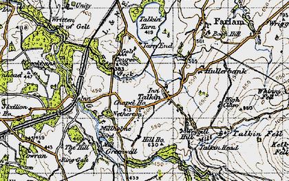 Old map of Talkin in 1947