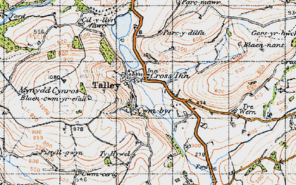 Old map of Talley in 1947
