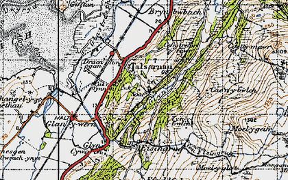 Old map of Talsarnau in 1947
