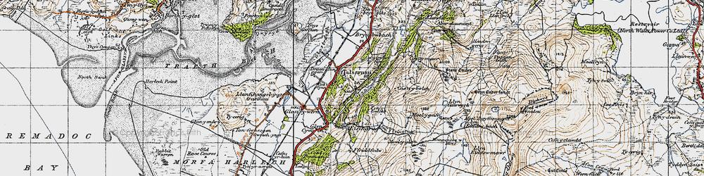 Old map of Talsarnau in 1947