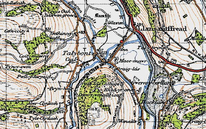 Old map of Ashford in 1947