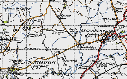 Old map of Windy Hill in 1947