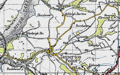 Old map of Ashleigh Barton in 1946