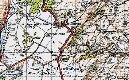 Old map of Ynys Fâch in 1947