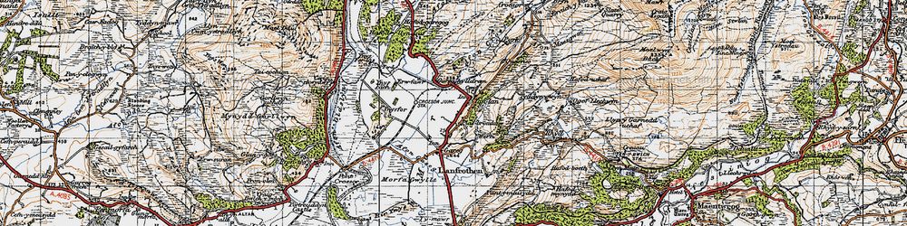 Old map of Ynys Fer-lâs in 1947