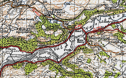 Old map of Afon Dwyryd in 1947
