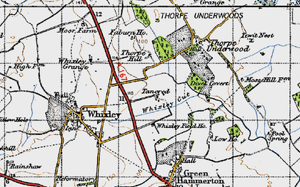 Old map of Whixley Field Ho in 1947