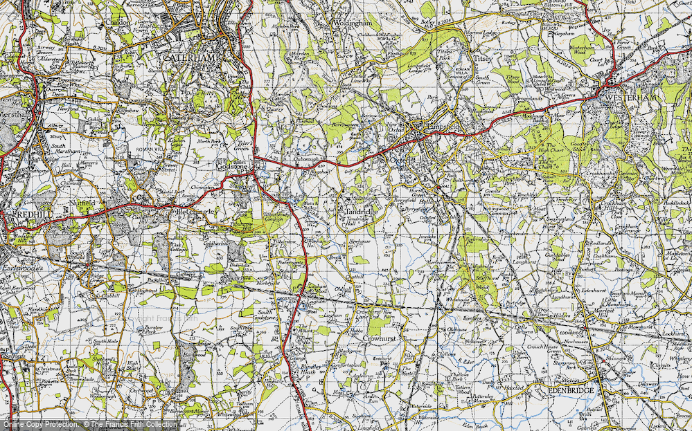 Old Map of Tandridge, 1946 in 1946