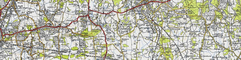 Old map of Tandridge in 1946