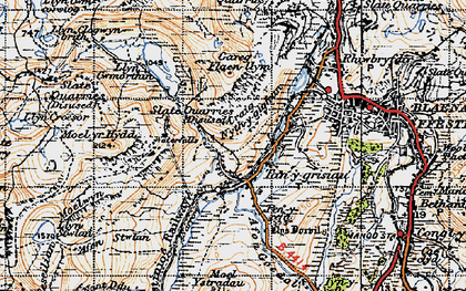 Old map of Afon Stwlan in 1947