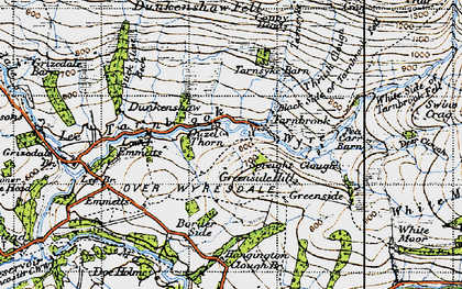Old map of Lee Fell in 1947