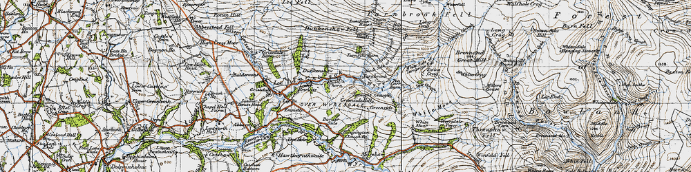 Old map of White Moor in 1947