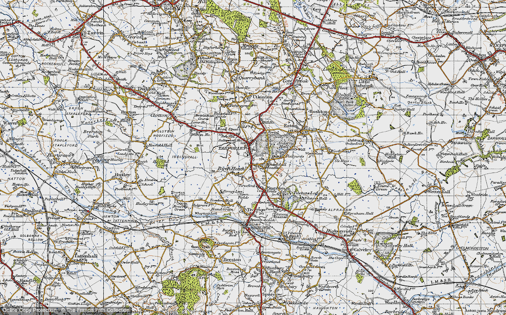 Old Map of Tarporley, 1947 in 1947